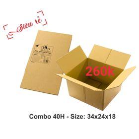 40 thùng carton 34-24-18 giá sỉ