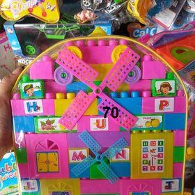 Đồ chơi trẻ em túi lắp ráp trẻ em 70 khối giá sỉ