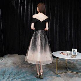 Đầm dạ hội đen phối giá sỉ