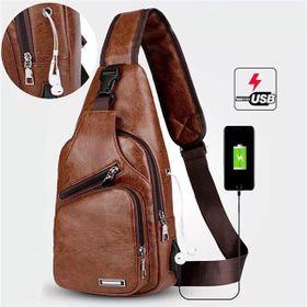 Túi đeo chéo Da bóng trơn AZ 3 khóa giá sỉ