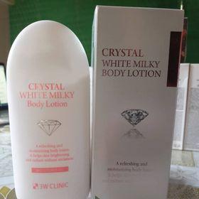 KEM DƯỠNG TRẮNG BODY CRYSTAL WHITE MILKY PACK 3W CLINIC HÀN QUỐC giá sỉ
