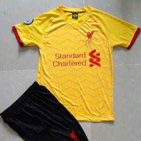 bộ đồ đá banh Liverpool vàng 2019 - 2020 giá sỉ