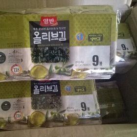 Lốc 9 gói rong biển ăn liền vị Olive Hàn Quốc giá sỉ