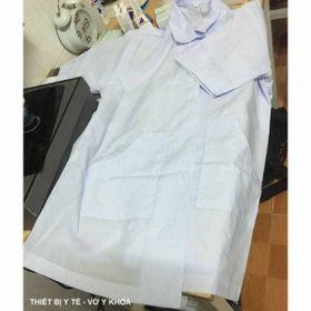 Áo Blouse áo bác sĩ áo dược sĩ tay ngắn thân ngắn nam/nữ giá sỉ