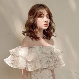 Đầm thiết kế bẹt vai hoa giá sỉ