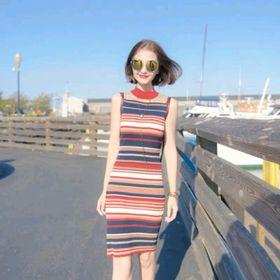 Đầm len sọc cao cấp QC giá sỉ