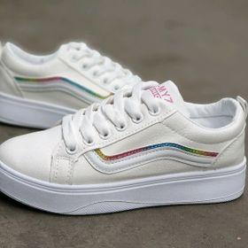 Giày bata trắng nữ giá sỉ