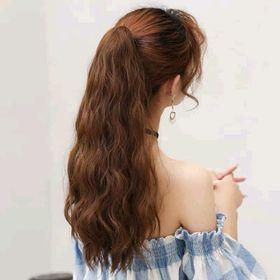Tóc ngoạm xù sóng từ tơ pha tóc thật sỉ siêu rẻ giá sỉ