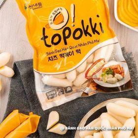 Bánh gạo Hàn Quốc topokki nhân Phô mai giá sỉ