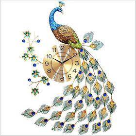 Đồng hồ treo tường hình chim công giá sỉ