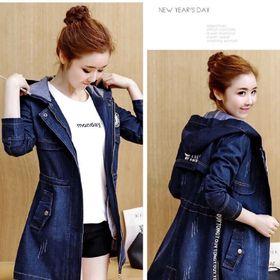 Áo khoác jean logo cao cấp giá sỉ