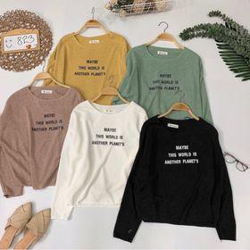 Áo len basic in chữ giá sỉ