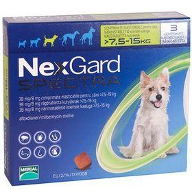 Thuốc trị ve ghẻ bọ chét demodex tẩy giun cho chó Nexgard Spectra cho chó 75-15kg giá sỉ