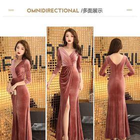 Đầm nhung dạ hội cao cấp giá sỉ