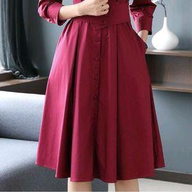 Đầm sơmi đỏ giá sỉ