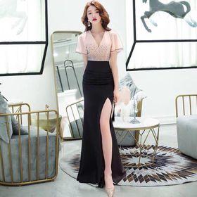 Đầm dạ hội xẻ tà cao cấp giá sỉ