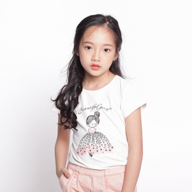 Áo phông bé gái 09GS18 giá sỉ