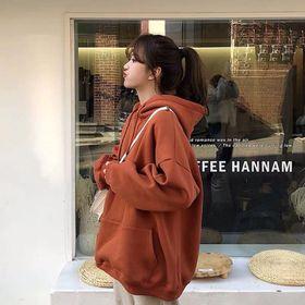 Áo hoodie trơn màu cam giá sỉ