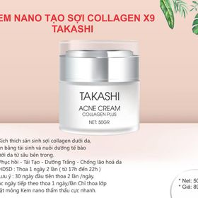 Kem dưỡng trắng tạo sợi Collagen - Takashi giá sỉ