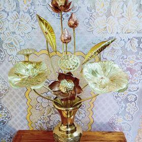 Hoa sen đồng vàng giá sỉ