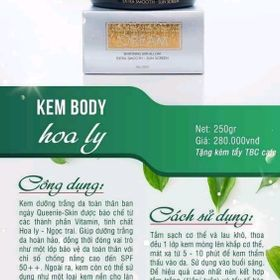 Body Hoa Ly Queenie skin giá sỉ
