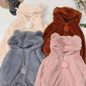 Áo khoác gấu lông cute giá sỉ