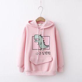 Áo hoodie nỉ in khủng long dễ thương giá sỉ