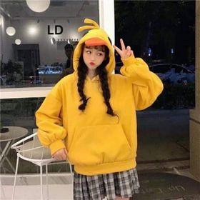 Áo hoodie nỉ nữ hình con vịt dễ thương giá sỉ
