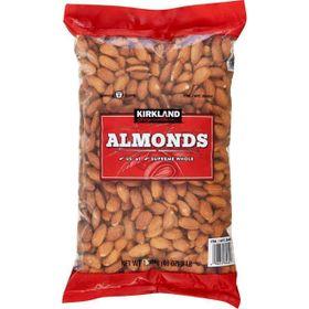 Hạt hạnh nhân Kirkland Almonds không muối gói 136kg của Mỹ giá sỉ