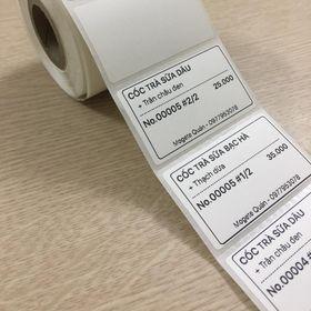 Tem Decal Trà sữa 50×30mm giá sỉ