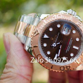 Đồng hồ cơ RL Yacht-Master siêu cấp mặt nâu vàng hồng giá sỉ