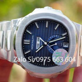 Đồng hồ cơ Patek siêu cấp mặt xanh cực hot giá sỉ