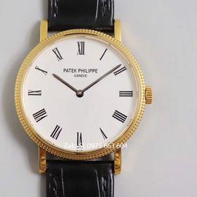 Đồng hồ cơ Patek Calatrava mặt trắng vàng giá sỉ