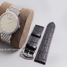 Đồng hồ cơ Patek Calatrava mặt trắng dây thép giá sỉ