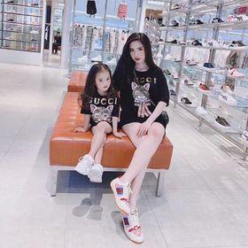 Áo cặp đôi cho mẹ bé in hình thời trang giá sỉ