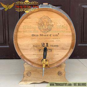 Thùng Ngâm Ủ Rượu 100 Lít Gỗ Sồi Đỏ Nhập Mỹ 100 giá sỉ