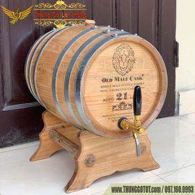 Thùng Ngâm Ủ Rượu Gỗ Sồi Đỏ 30 Lít giá sỉ