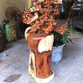 Bình mai gỗ hương ta giá sỉ
