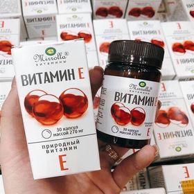 Vitamin E Đỏ Của Nga Mirrolla 270mg Hộp 30 Viên giá sỉ