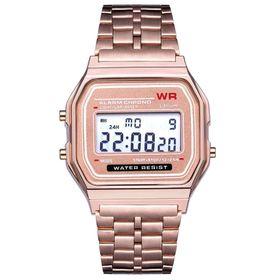 Đồng hồ nam nữ WR unisex hợp kim hồng giá sỉ