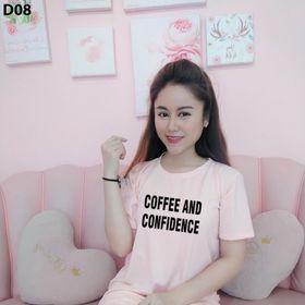Đầm suông thun cotton fom rộng in chữ COFFEE giá sỉ