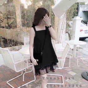 Đầm Suông Hai Dây Phối Ren giá sỉ