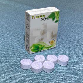 Khăn giấy ướt Tissue cao cấp dạng viên nén (Hộp 30 viên) giá sỉ