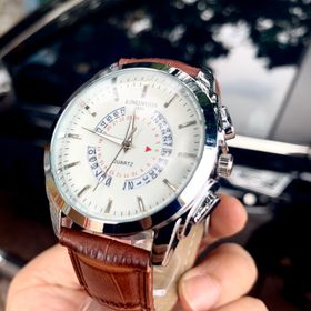 Đồng hồ nam Kingnous trắng giá sỉ