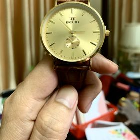Đồng hồ nam Belbi vàng giá sỉ