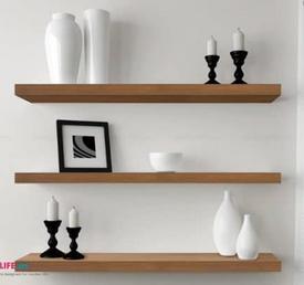 Kệ gỗ treo tường trang trí 3 thanh ngang giá sỉ