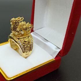 Nhẫn nam kỳ lân mạ vàng giá sỉ