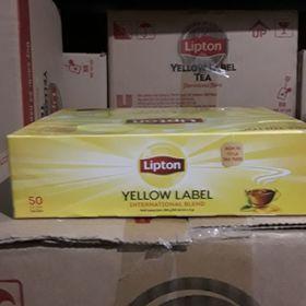 Trà túi lọc Hộp 50 túi/ Lipton nhãn vàng Số 1 Việt Nam giá sỉ