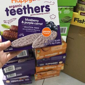 Bánh gạo ăn dặm hữu cơ Happy Baby Teethers giá sỉ