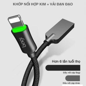 Cáp sạc LED Bagi sạc nhanh bọc vải dài 1.2m IZ120 hàng Việt Nam giá sỉ